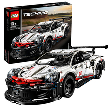 Lego building blocks authentic technology machinery group boys assembling toys remote control racing Porsche Bugatti velon