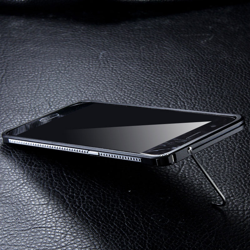 iMatch Slim Light Aluminum Metal Shockproof Bumper Case with Kickstand for OPPO R11 & OPPO R11 Plus