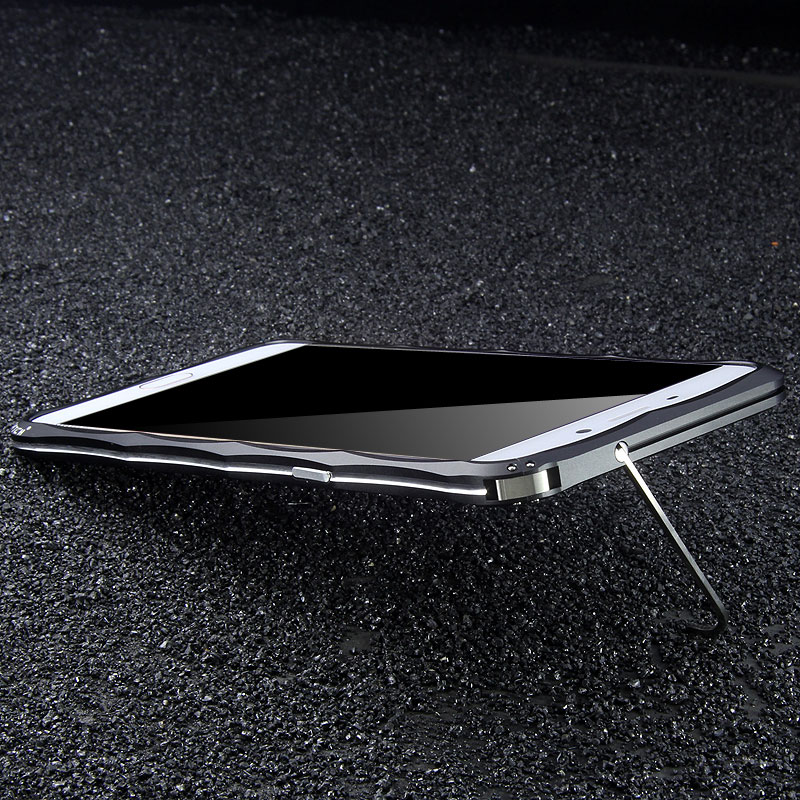 iMatch Slim Light Aluminum Metal Shockproof Bumper with Kickstand for OPPO R9 Plus & OPPO R9