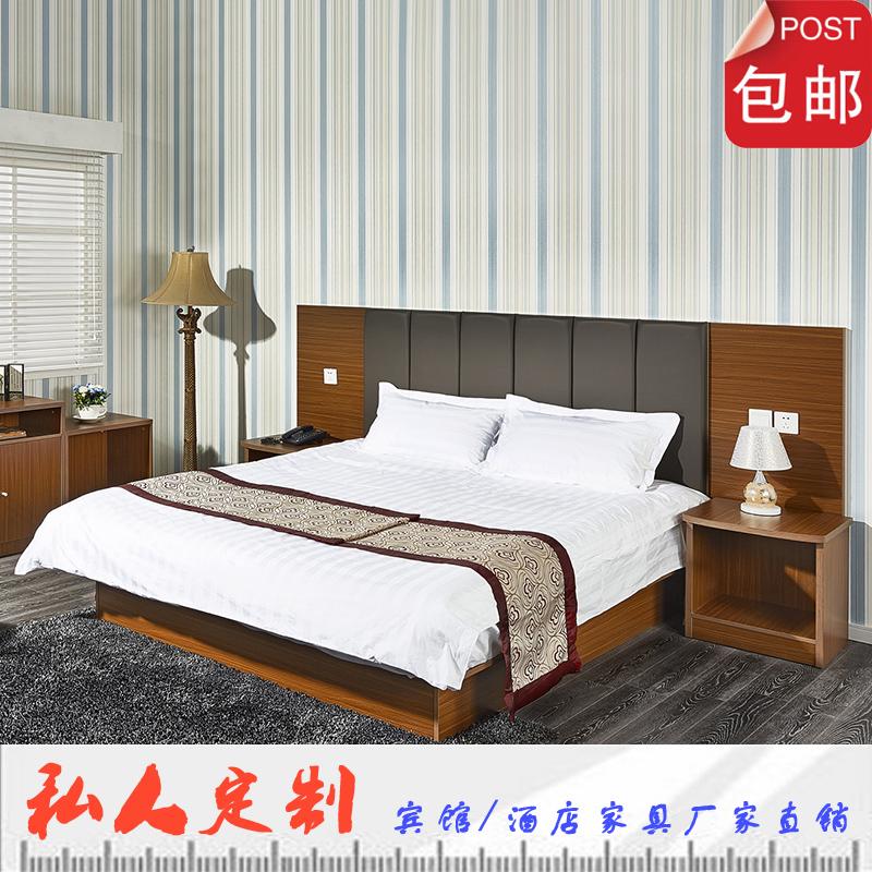 Сокращенный отели мебель кровать сделанный на заказ гость дом мебель кровать стандартный номер комплект 1.8 m tv кабинет простой современный пассажир дом
