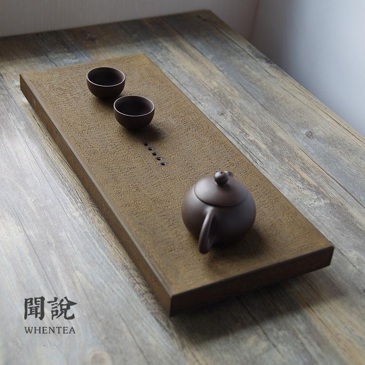 Запах сказать   природный угьен камень японский античный копия ржавчина железо сделать старый ручной работы камень чайный поднос усилие чай море чай тайвань
