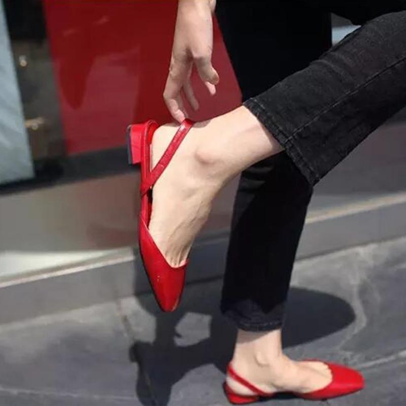 11-29新券2019新款韩版方头平底包头凉鞋女鞋