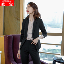 Suit suit women's 2019 new autumn and winter fashion style formal dress British style black suit business suit