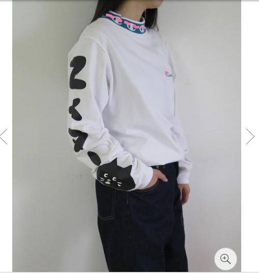 18秋8月新品Ch@mpi0n x Ne-n*et 合作款手臂猫咪logo印花长袖卫衣