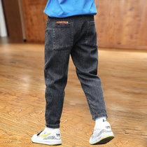 男童牛仔裤秋冬2020新款儿童裤子中大童冬装男孩加绒加厚棉裤冬季