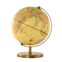Love Belle Antique globe decoration students with high-definition home furnishings 25cm medium Childrens study retro decoration antique 20cm trumpet globe