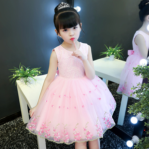女童连衣裙夏装2020新款洋气童装绣花纱裙儿童裙子夏公主裙蓬蓬纱