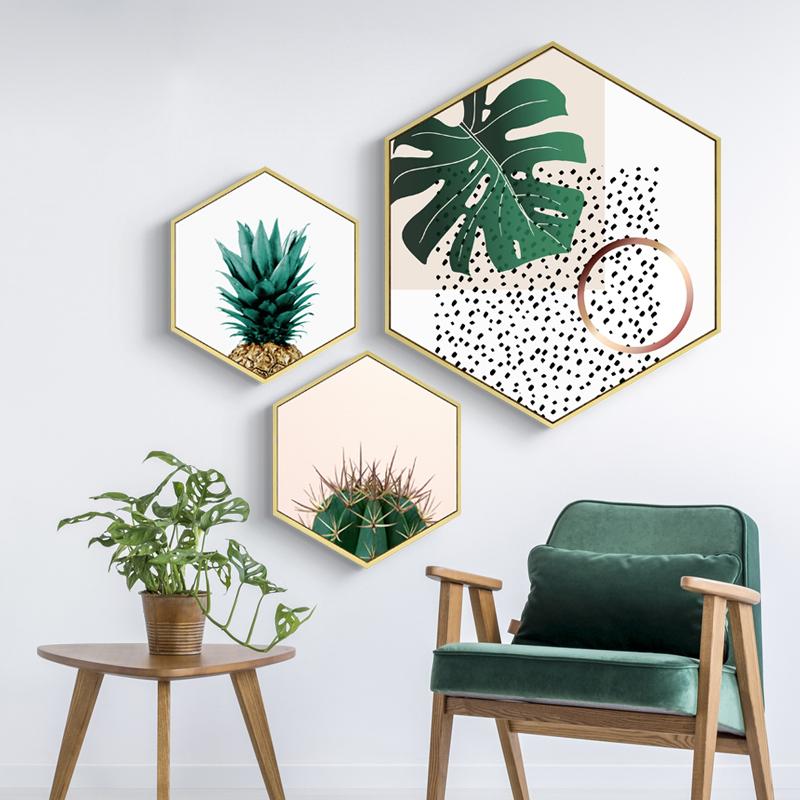 知夏 现代简约创意墙画餐厅挂画客厅装饰画背景墙壁北欧风格壁画