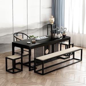 新中式茶桌功夫茶台实木家具创意办公客厅家用简约茶几茶桌椅组合
