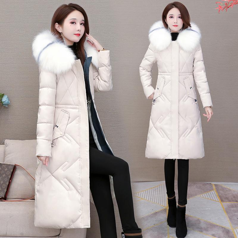 棉衣女中长款2020年冬装韩版宽松时尚女装毛领羽绒棉服棉袄外套潮