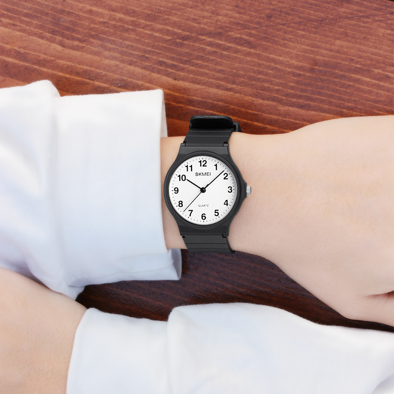 时刻美儿童手表指针式青少年初中学生潮流防水简约气质石英表男女