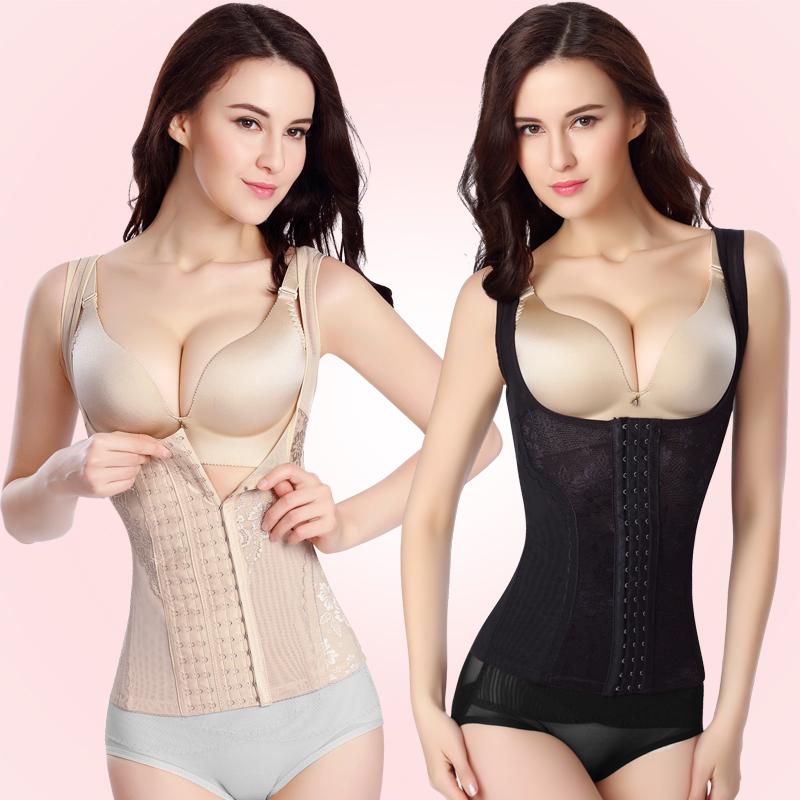 燃脂加强版排扣分体塑身背心束身衣收腹衣美体衣 女塑形衣塑身衣