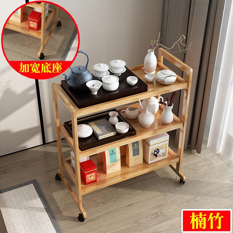 移动茶水车家用茶水架置物架子客厅带轮小茶桌茶盘茶具套装美容车图片