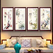 辦公室裝飾畫中式沙發背景墻靠山招財國畫鴻運當頭山水畫客廳掛畫