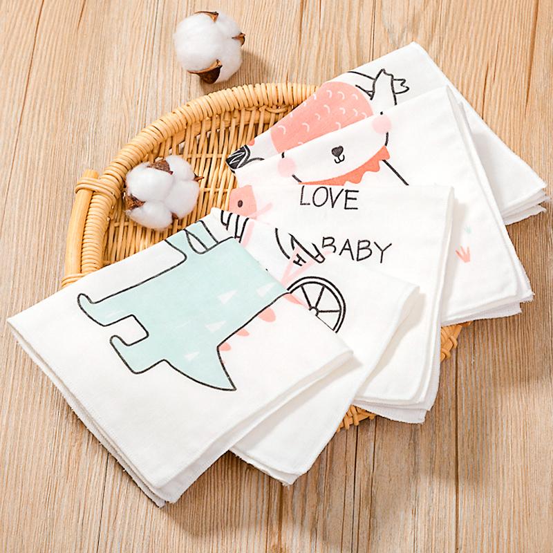 婴儿纱布方巾小手帕纯棉儿童洗脸毛巾新生儿口水巾宝宝手绢5条装