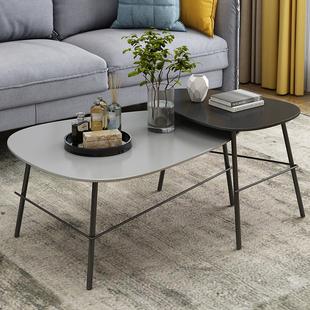 北欧创意小户型客厅简易茶几组合简约现代家用飘窗卧室实木小桌子