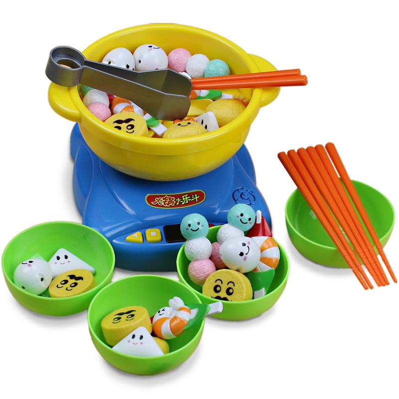 兒童過家家仿真廚房玩具火鍋大樂鬥筷子夾夾樂套裝男女孩3~6周歲