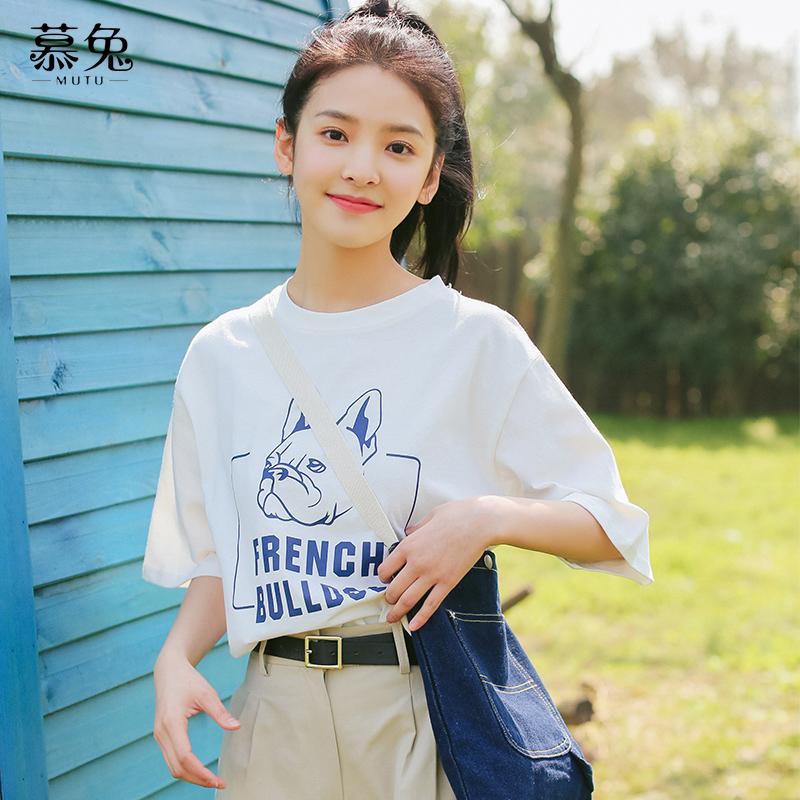 设计感白色短袖t恤女春夏2021新款韩版宽松ins纯棉百搭上衣半袖潮
