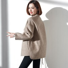 Spring and Autumn 2009 New Double-sided Fur, Wool, Double-sided Fabric, Overcoat, Wool, Clothes, Nizi Short-style Cold Female Hong Kong Flavor