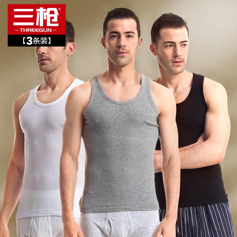 【3 кусок 】 три пистолет жилет мужской лето хлопок плотно препятствие тонкая модель движение тонкий поддержка пот рубашка жилет