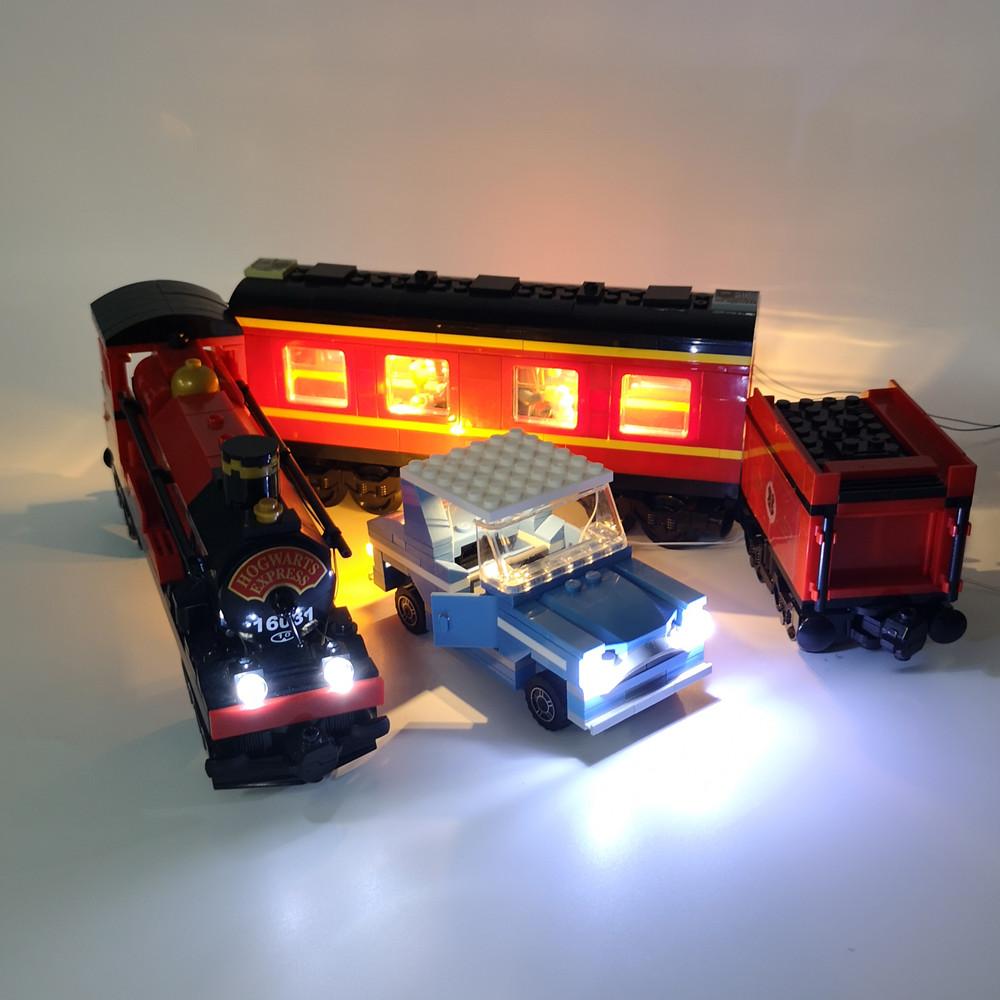 可匀Kyglaring灯饰适用乐高4841哈利波特汽车LED灯饰