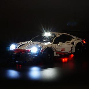 KY可勻l燈飾適用樂高42096 保時捷911LED燈飾