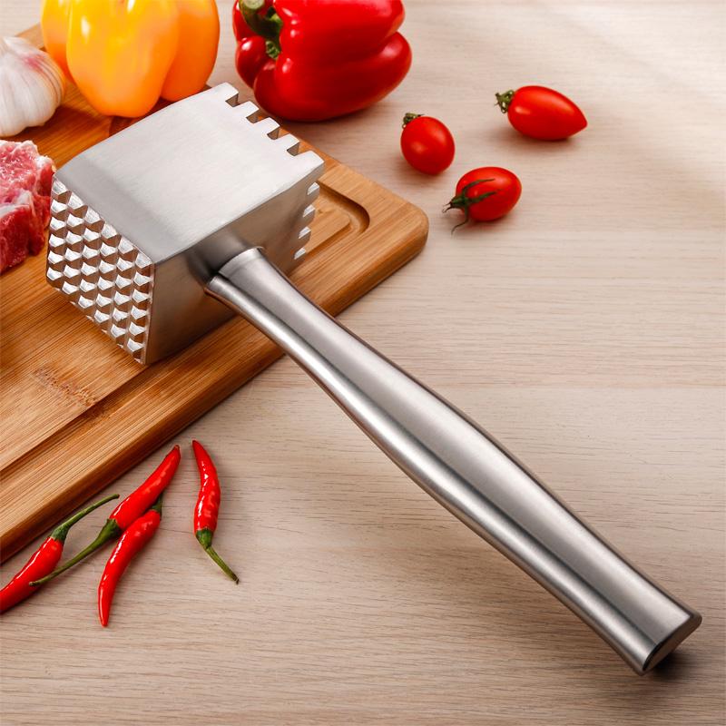 304不锈钢敲肉锤大号牛排锤拍嫩松肉锤打砸牛肉锤子厨房西餐工具