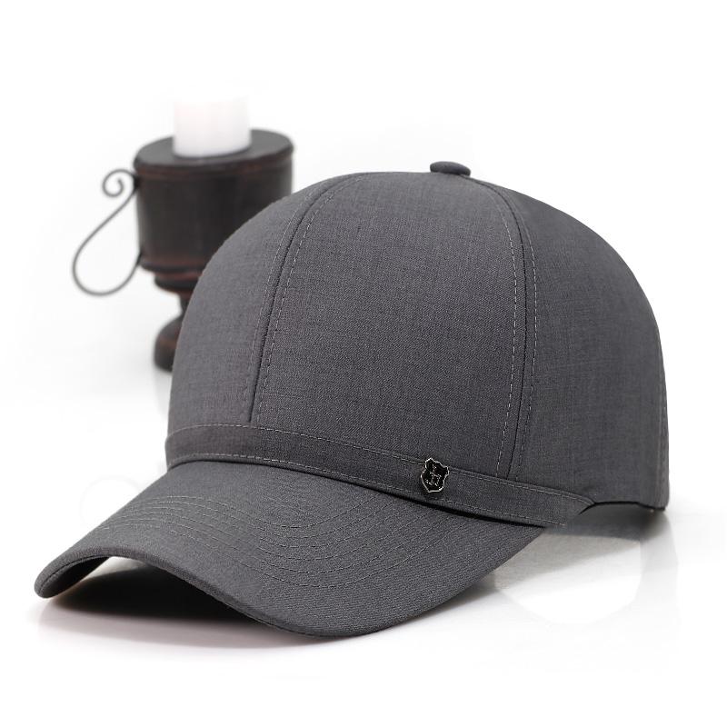 老年人帽子男春秋天鸭舌帽休闲布帽秋中老年棒球帽薄款中年爸爸帽