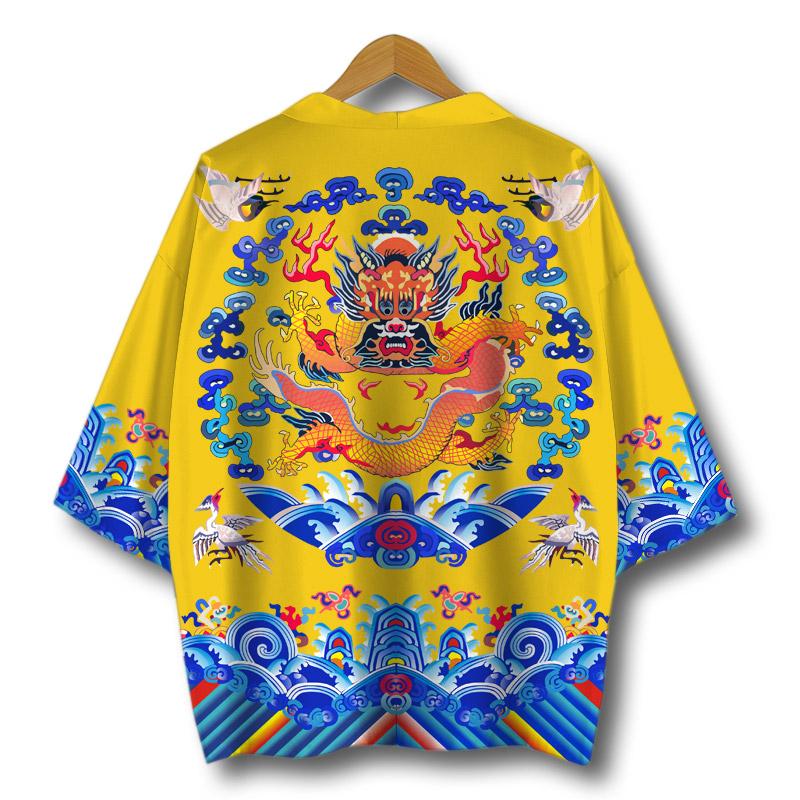 龙纹龙袍中国风国潮牌古风青年官服