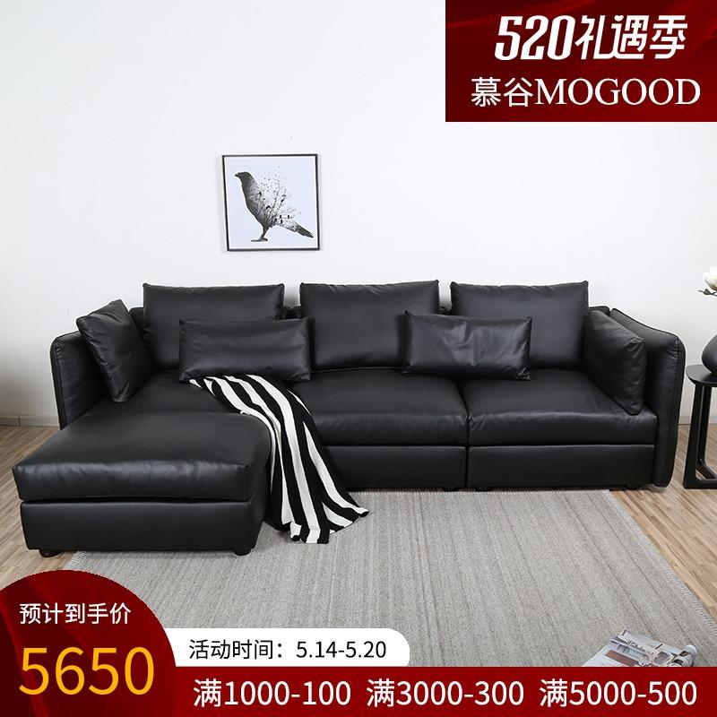 慕谷皮艺沙发小户型客厅整装现代简约家用欧式小奢华双人三人组合