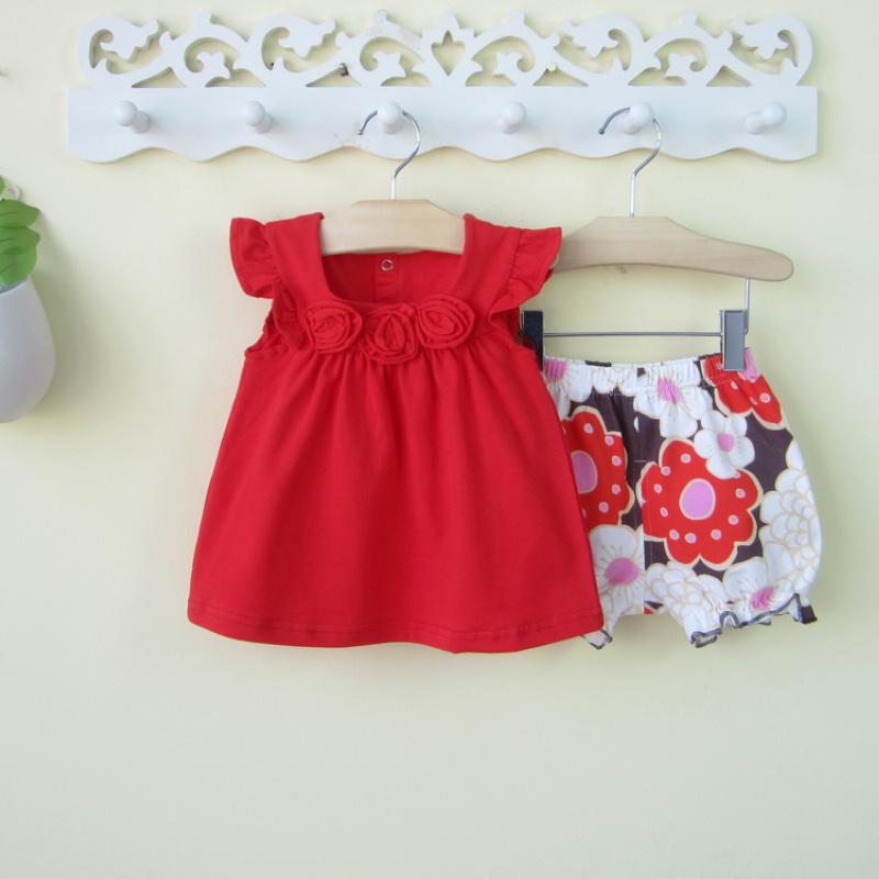 女童夏装0-1-2-3岁女宝宝公主裙子两件套装婴儿夏天衣服可爱夏季4
