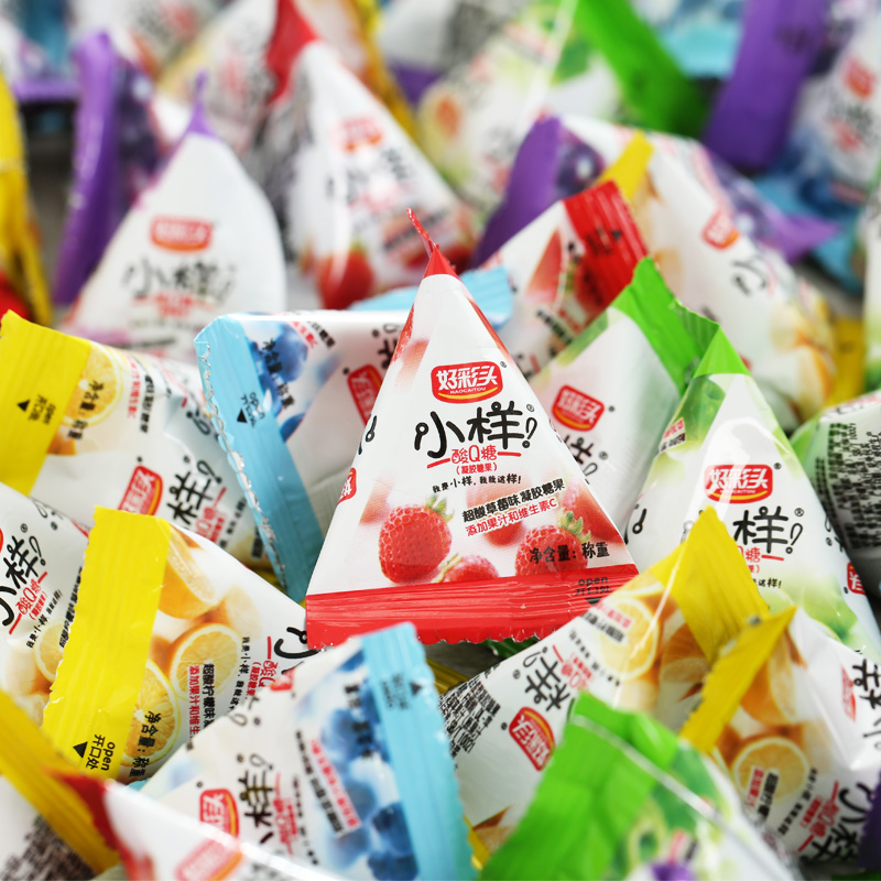 券后13.50元好彩头小样Q酸500g约90包QQ软糖散装糖果结婚喜糖果汁糖批发