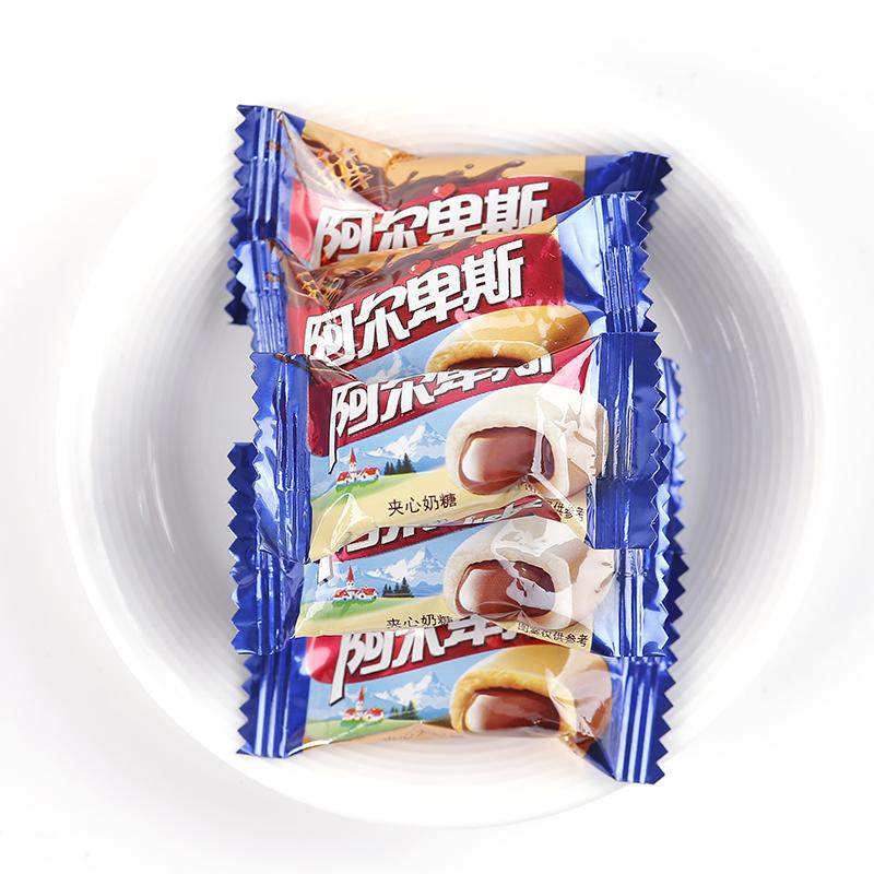 阿尔卑斯巧克溢500克约75颗巧克力太妃糖散装结婚喜糖果批发年货