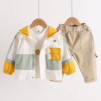 查看男童春秋装外套2020年新款韩版洋气儿童春秋款宝宝小童潮酷秋季价格