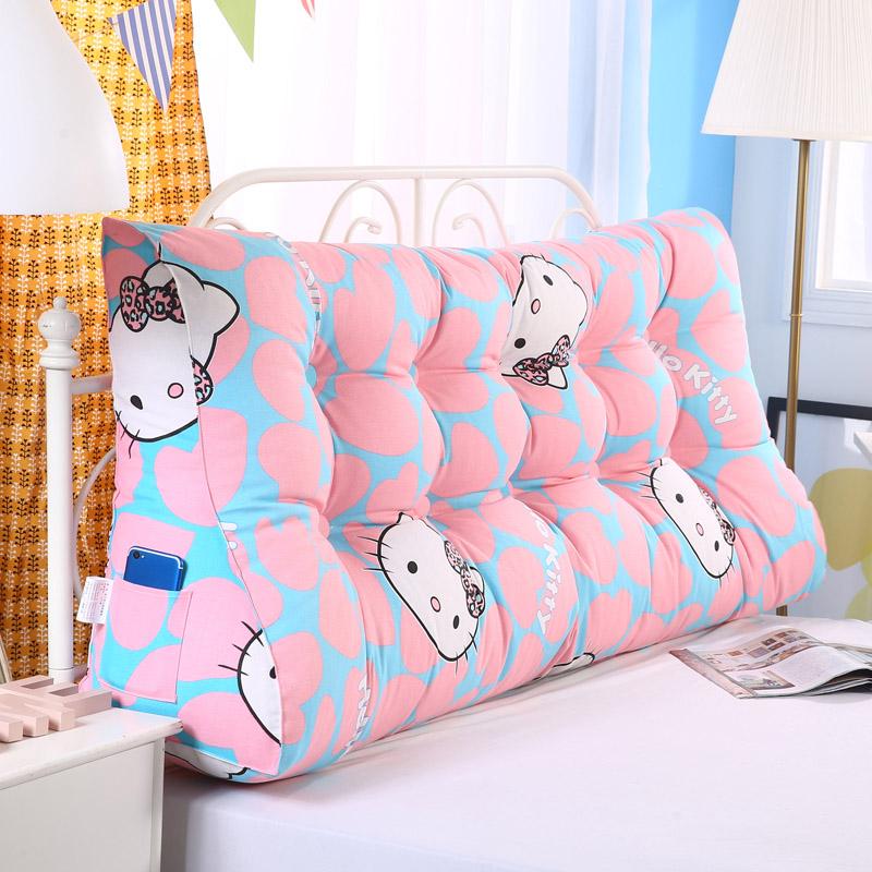 雙人床頭軟包三角靠墊床上榻榻米大靠枕加厚靠背墊護腰沙發可拆洗