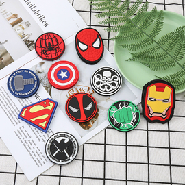 漫威电影超级英雄人物魔术贴臂章 复仇者联盟PVC徽章户外包配贴章