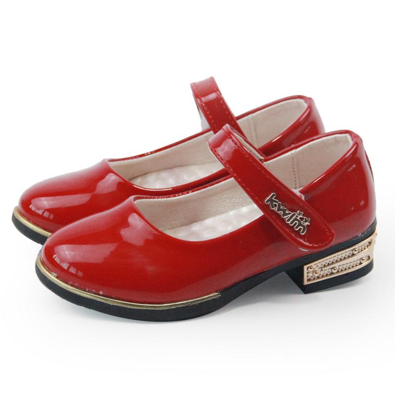 女童皮鞋黑色學生兒童鞋2017春秋款公主鞋 跳舞鞋女孩子單鞋