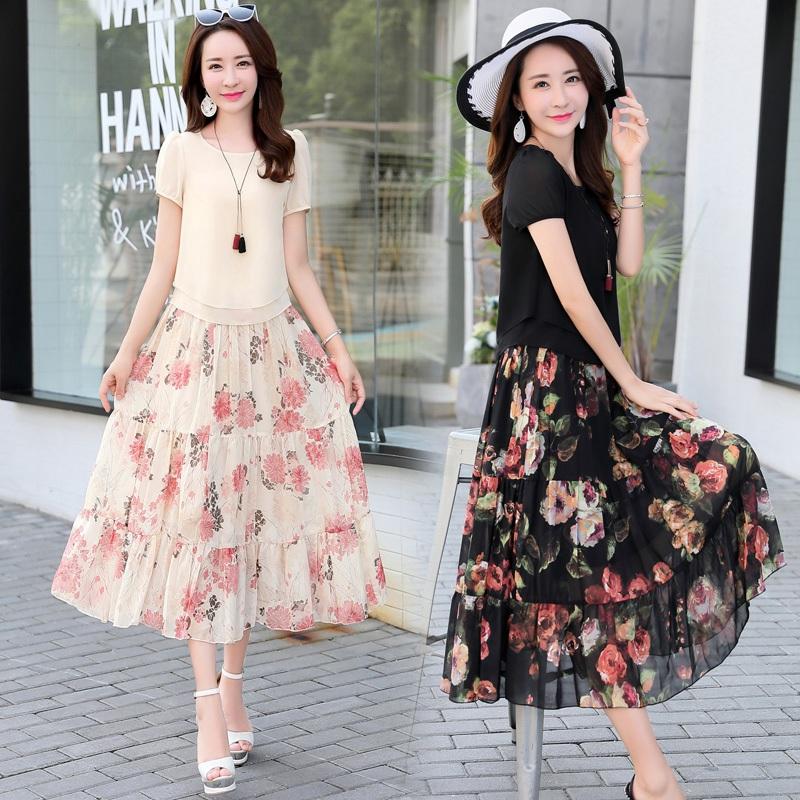 名兰世家旗舰店2018夏装新款古贝莎高档粉红玛丽正品显瘦淑女套裙