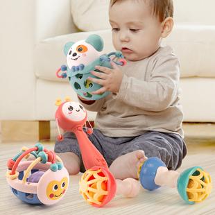 婴儿新生初生摇铃益智0到6个月以上一八半0-1岁宝宝玩具有声会动3
