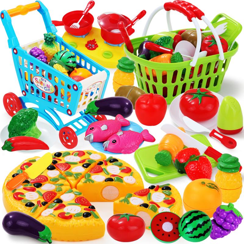 兒童過家家玩具可切水果切切樂小孩男孩玩具女孩女童寶寶1~2~3歲
