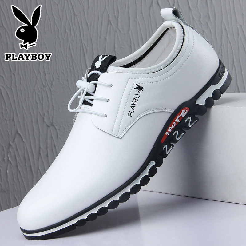 2020 new leather shoes mens leather youth Korean Edition versatile inner heightening shoes autumn full leather business casual shoes