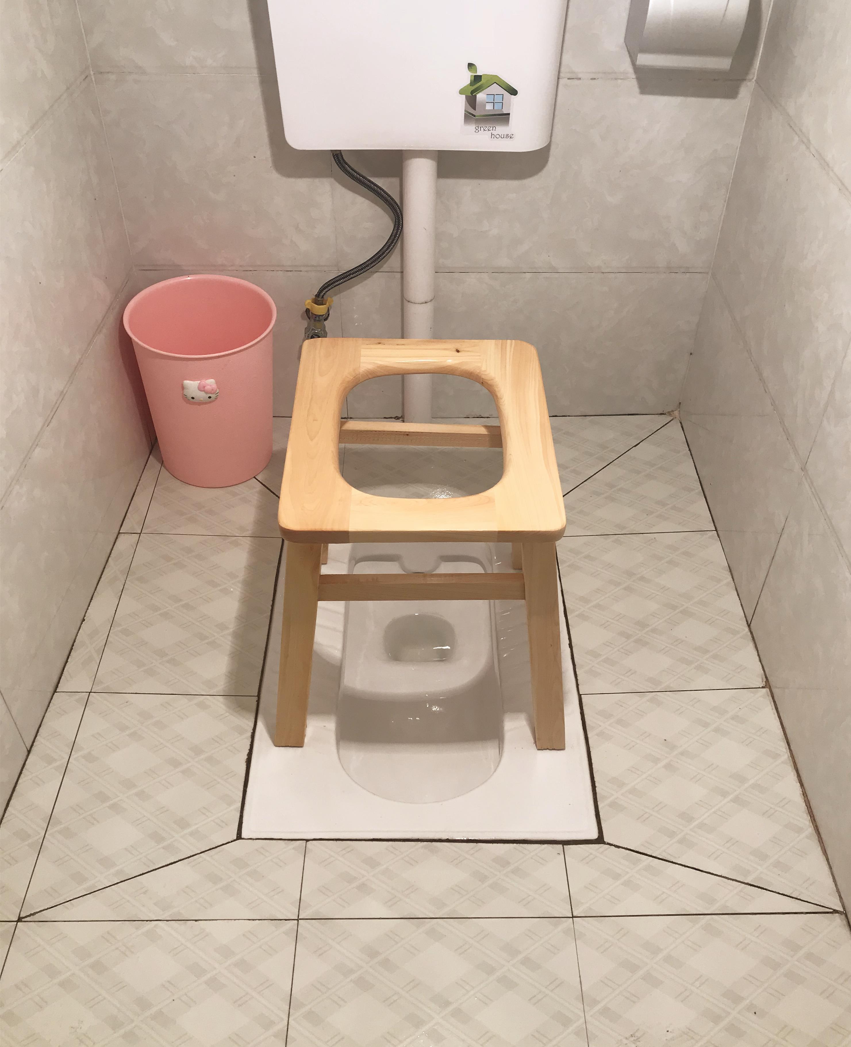 实木老人残疾成人坐便椅孕妇上厕所坐便器加固可移动马桶家用防滑