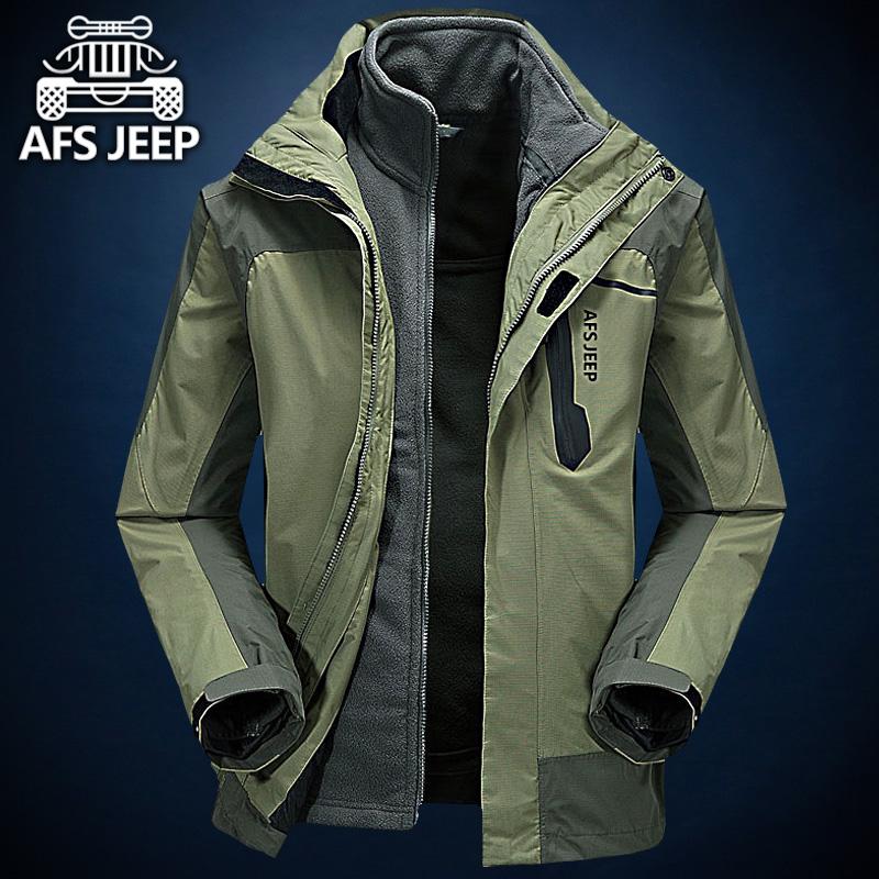 Поле боя джип любители куртка мужчина такси толщиной три синкретическая два рукава восхождение одежда зима на открытом воздухе движение пальто