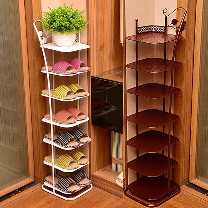 进门鞋架宿舍女简易小鞋架创意家用省空间铁艺鞋柜多层经济型防尘