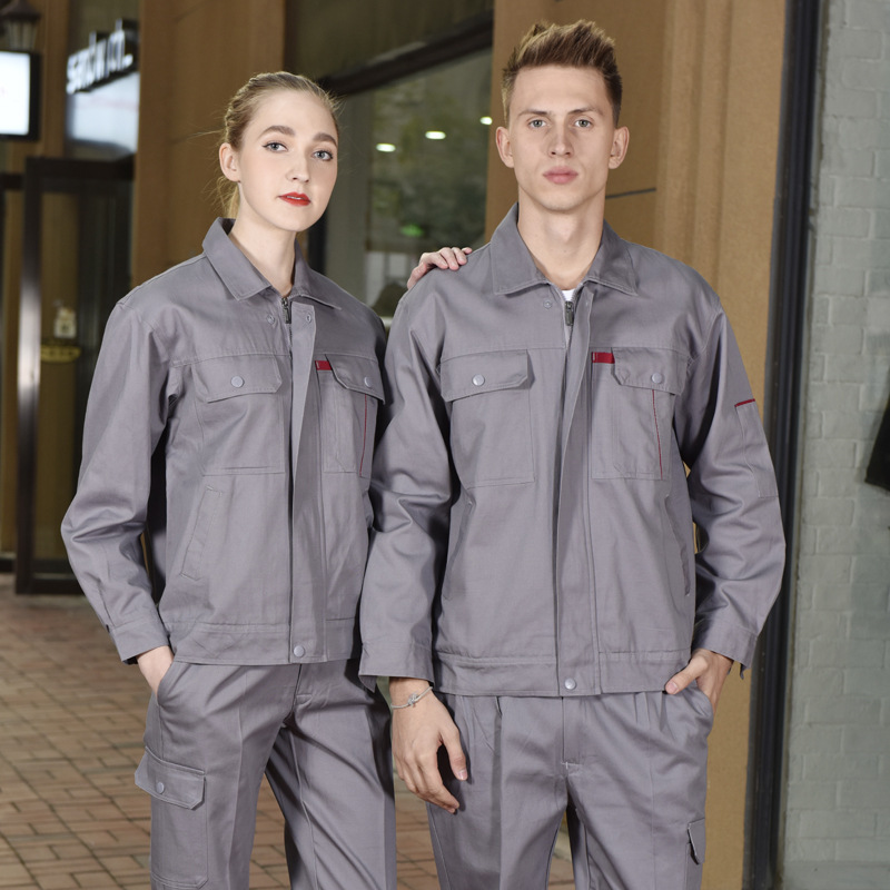 Custom made property double deck Hotel Uniform suit Engineering Department autumn and winter work clothes Machinery Factory electrician thickened work clothes