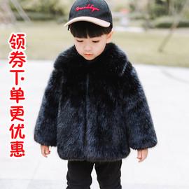 男女童皮草外套宝宝儿童加厚仿水貂毛绒保暖毛毛大衣冬季新款童装图片