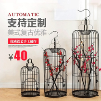 Simple Retro creative decorative iron birdcage flower birdcage large window decoration wedding prop Decorations