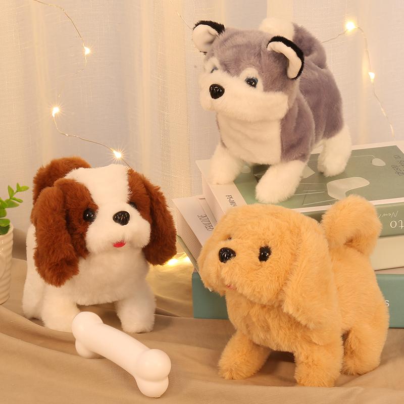 タオバオ仕入れ代行-ibuy99|电子玩具|儿童电动毛绒玩具狗狗走路会叫会走宝宝男孩女孩仿真电子宠物小狗