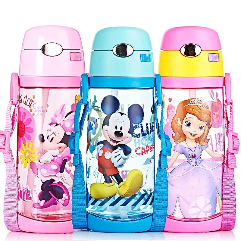 迪士尼塑料杯兒童吸管杯 水壺學生水杯幼兒杯子密封不漏無異味
