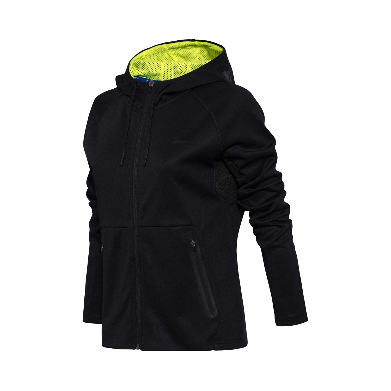 李宁卫衣女士羽毛球系列开衫长袖外套连帽上衣夏季运动服 AWDM668